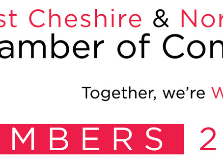 We are now proud members of the West Cheshire and North Wales Chamber of Commerce
