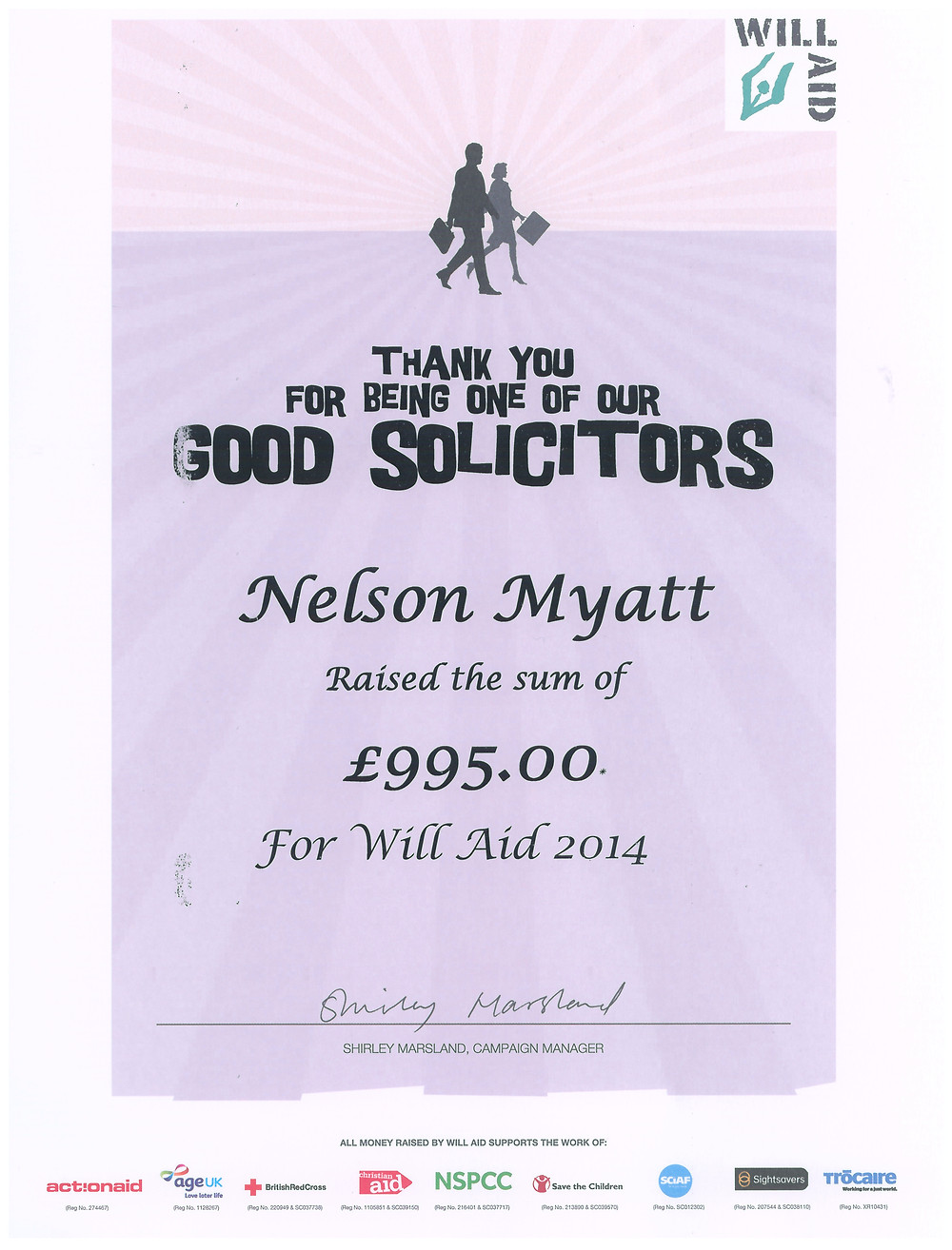 Will aid at Nelson Myatt