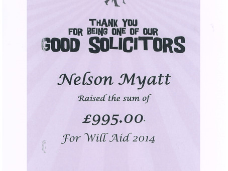Our Will Aid Certificate