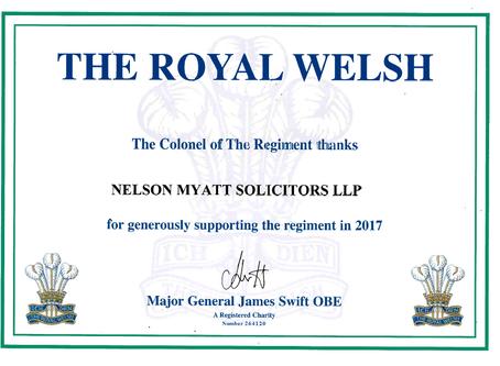 Royal Welsh sponsors