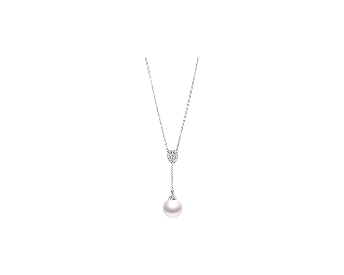 South Sea Pearl & Diamond Necklace (11-12mm / .104 CT)