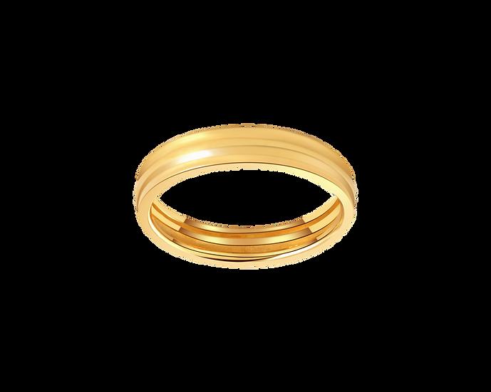 Interior Diamond Gold Band - Men