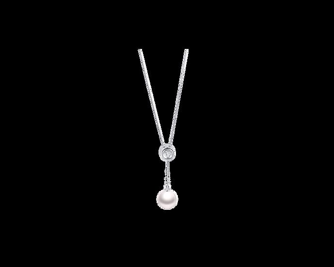 Akoya Pearl & Diamond Necklace (9-9.5mm / .112 CT)