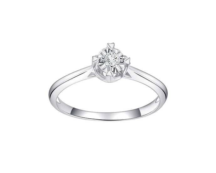 .06 CT Diamond Traditional Engagement Ring