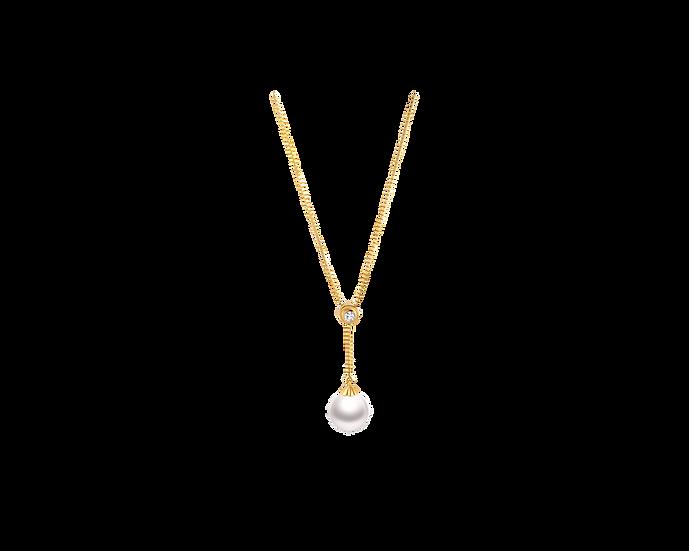 Akoya Pearl & Diamond Necklace (8.5-9mm / .077 CT)