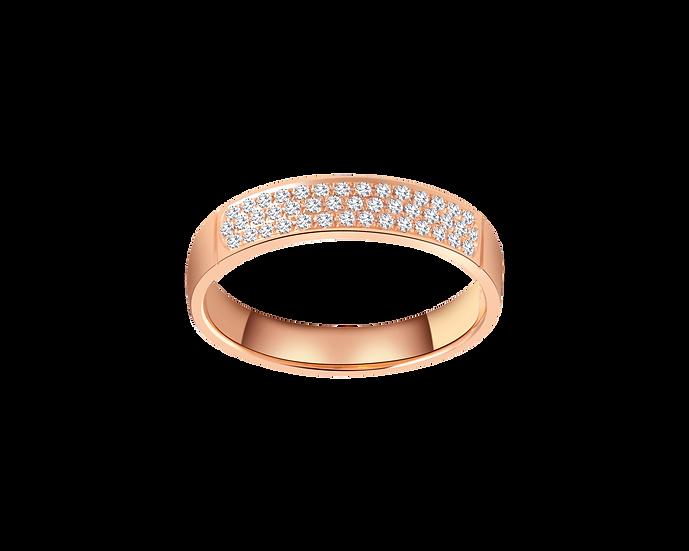 Diamond Clustered Half Eternity Ring - Women