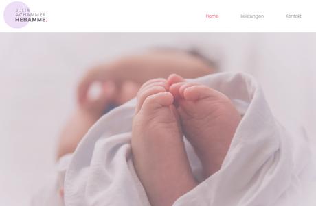 Hebamme Julia Website