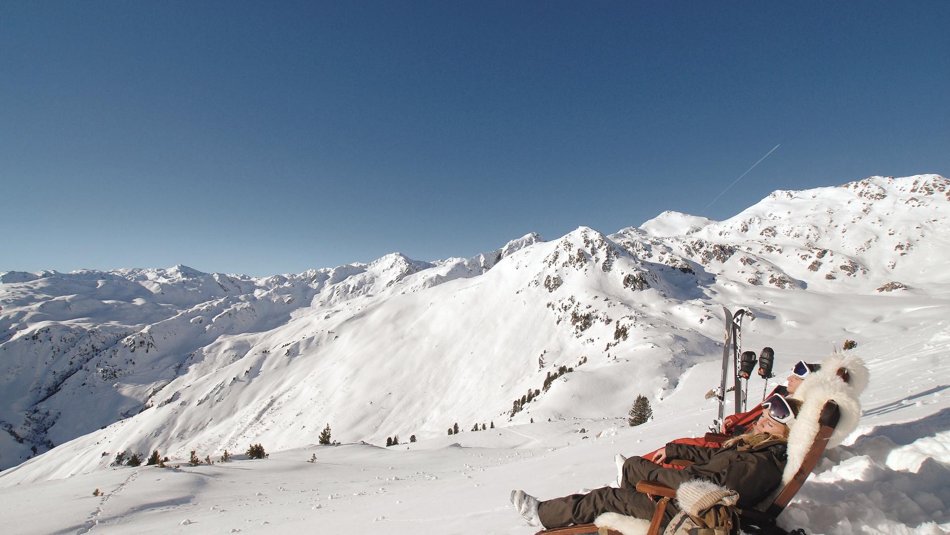 Winterpanorama Hochzillertal Bergwinter