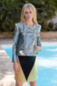 Gelfer Design - Rockey Jacket metallic with Mountain skirt metallic