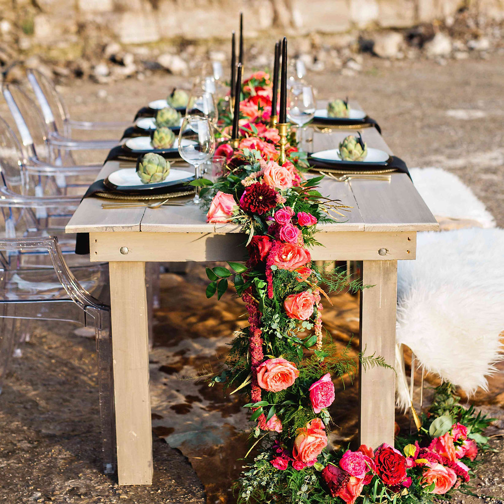 floral outdoor wedding garland