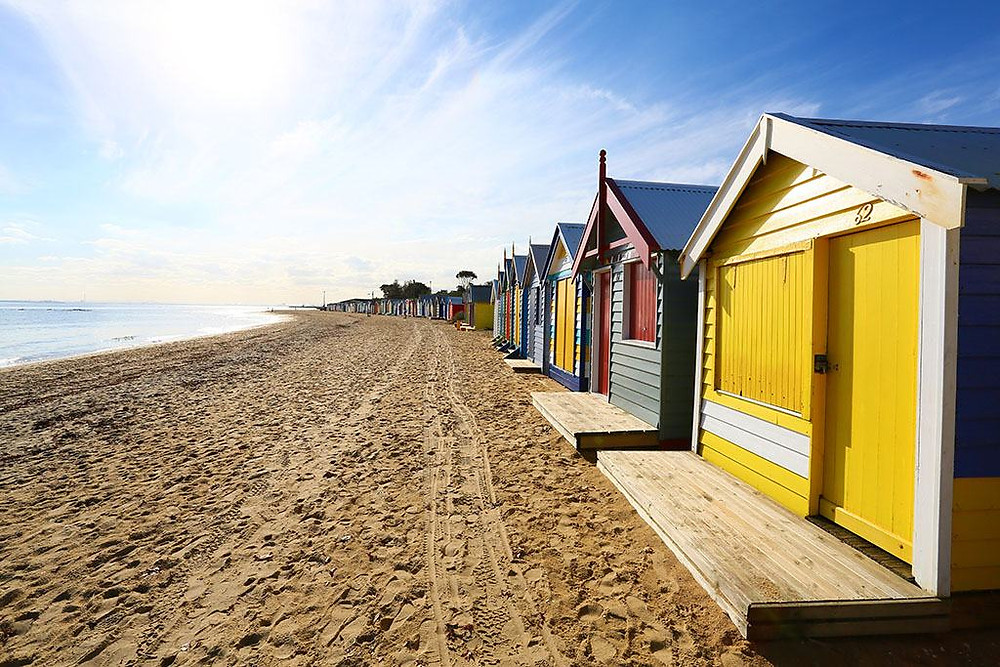 brighton beach huts melbourne wedding