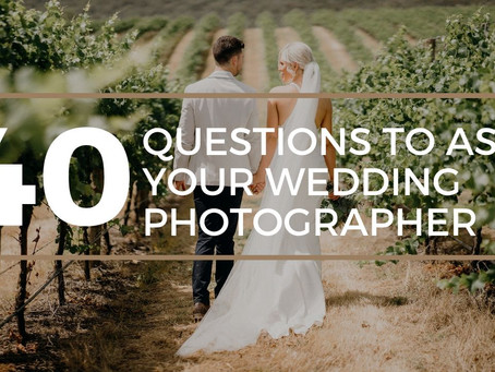 40 Questions To Ask Your Wedding Photographer
