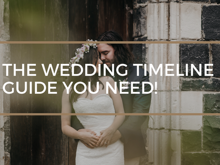 Here's the Timeline Guide that You Need for your Wedding Day!