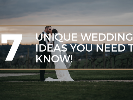 Make Your Wedding Unique Through These Clever Wedding Ideas