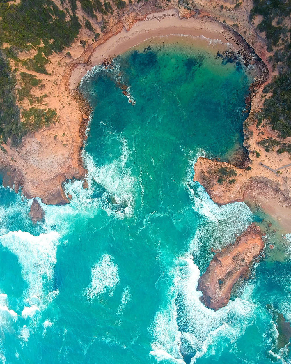 Sorrento Drone Shot Above Beach wedding honeymoon destinations