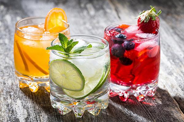fruity wedding refreshments