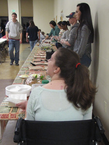 Serving Dinner at the Winter Shelter
