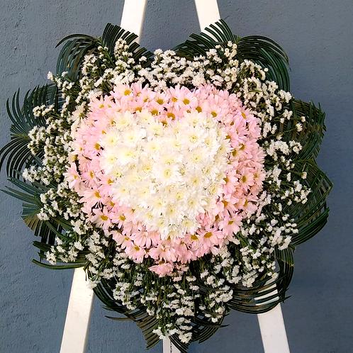 Coroa em formato de coração - Flores do campo (cor que desejar)