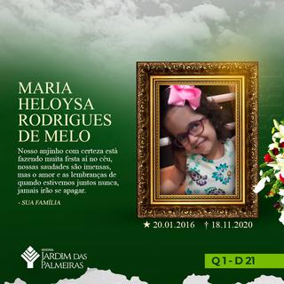 Maria Heloysa Rodrigues De Melo