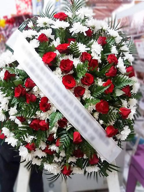Coroa - Flores do campo com 40 Botões de Rosa (cor que desejar)