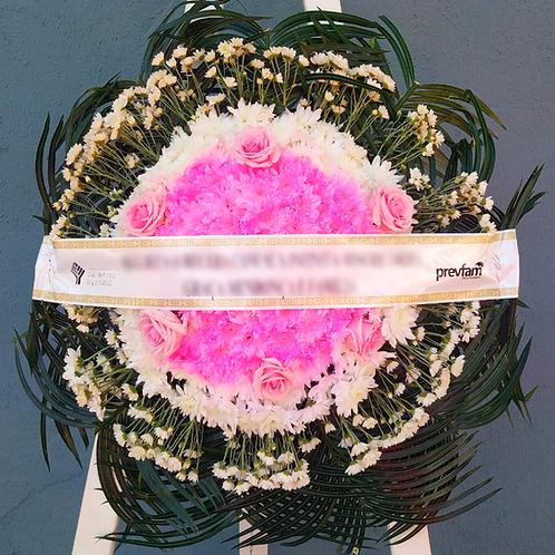 Coroa - Flores do campo com 6 Botões de Rosa (cor que desejar)