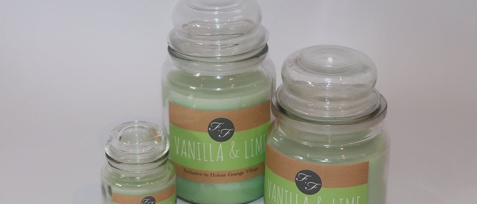Vanilla and Lime Candle Gift Flicker and Flame