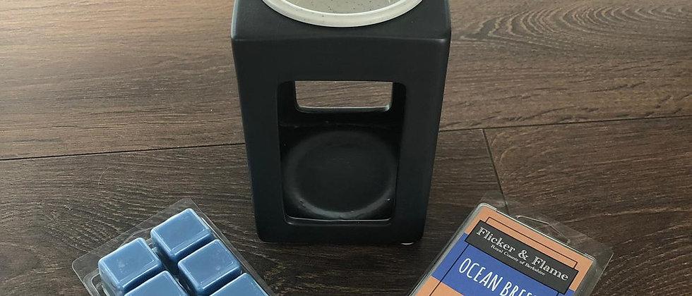 Pillar - Ceramic Wax Melt Burner (Black)