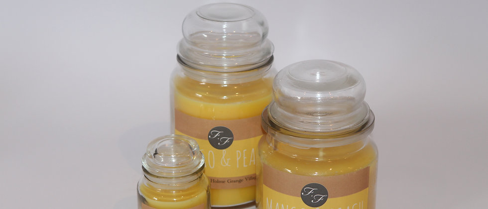 Mango and Peach Set Candle Flicker and Flame