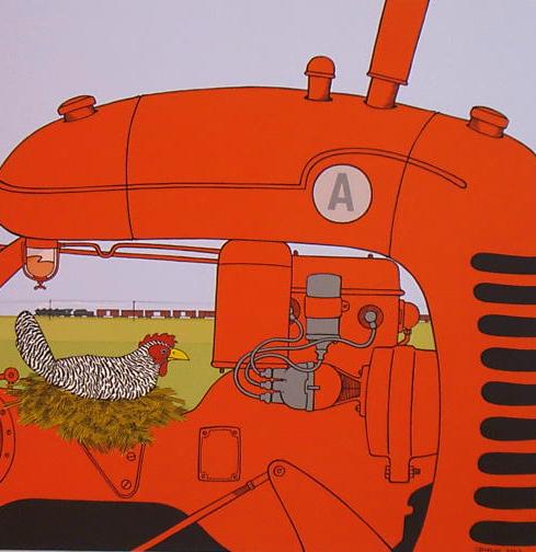 Chicken nest on tractor 1