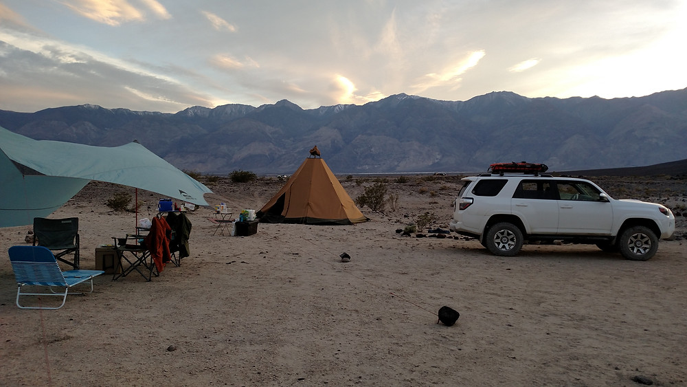 Saline Valley Hot Springs Camp with Tipitent.
