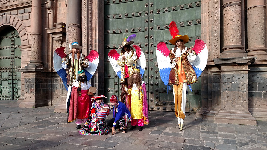 Nativity scene in Cusco Peru