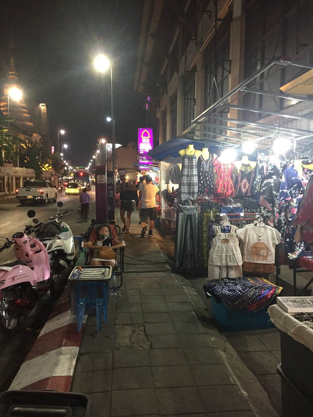 Bustling city streets of Chang Mai.