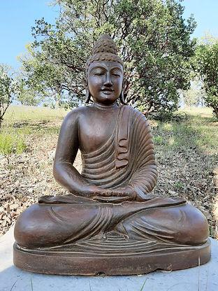 Indonesian Lava Stone Buddha Statue