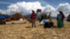 Uros Islands on Lake Titicaca