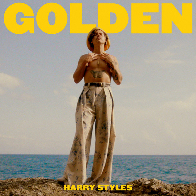 HARRY STYLES 'GOLDEN' SINGLE ARTWORK COVER