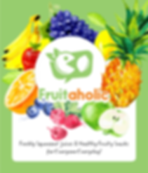 Fruitaholic juice bar signage