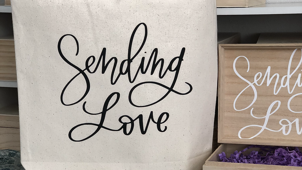 Sending Love Canvas Tote