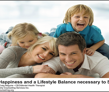 Finding Happiness and a Lifestyle Balance necessary to Sustain It