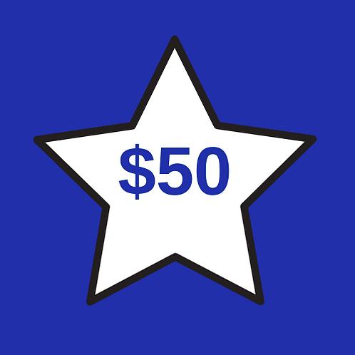 Teacher Appreciation $50
