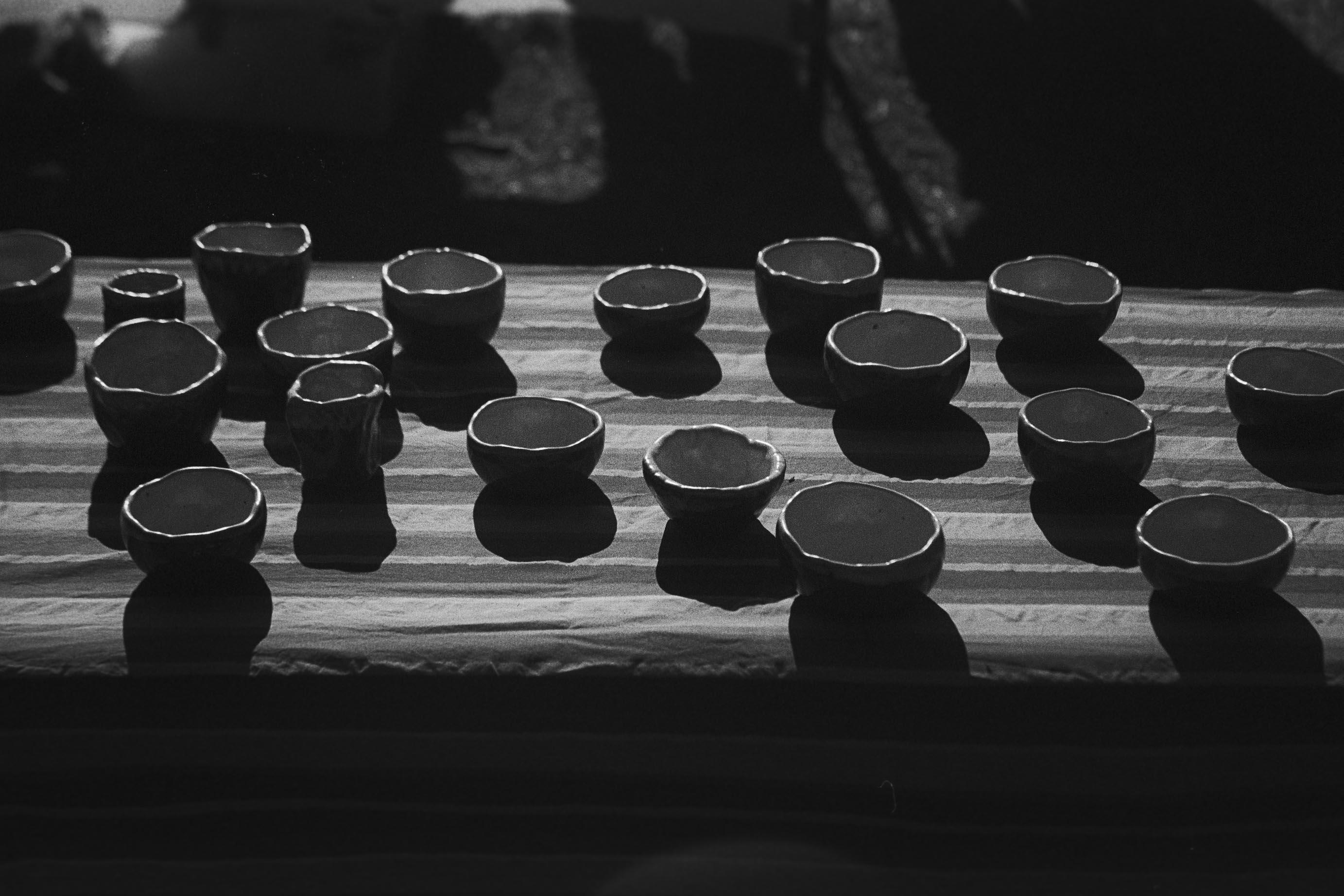 Bowls at Machiko's stall at Glebe Market
