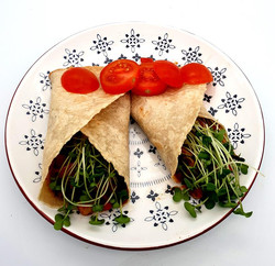 Burrito with Radish Microgreens