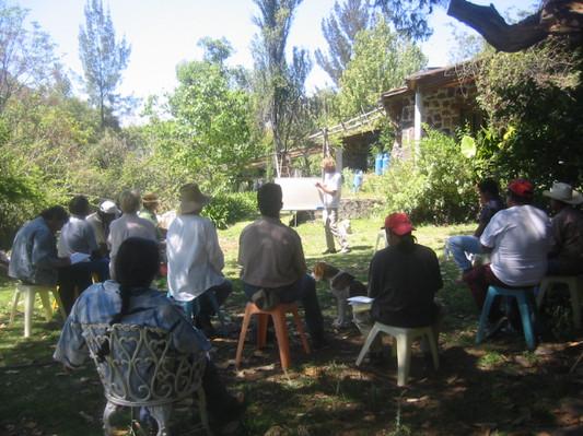Pláticas y cursos en el Rancho