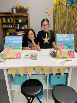 camryn and kensey and  thier paintings