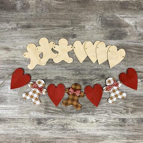 Gingerbread Heart Banner