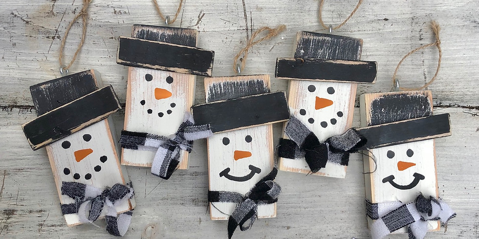 Snowman Ornament DIY Take Home Kits Pick Up  (1)