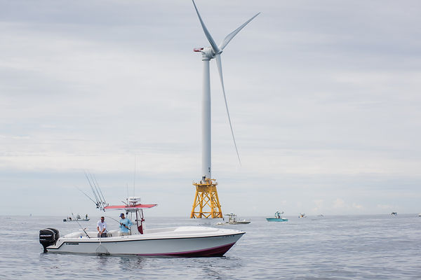 Fishermen and Offshore Wind Turbine, East Coast U.S.