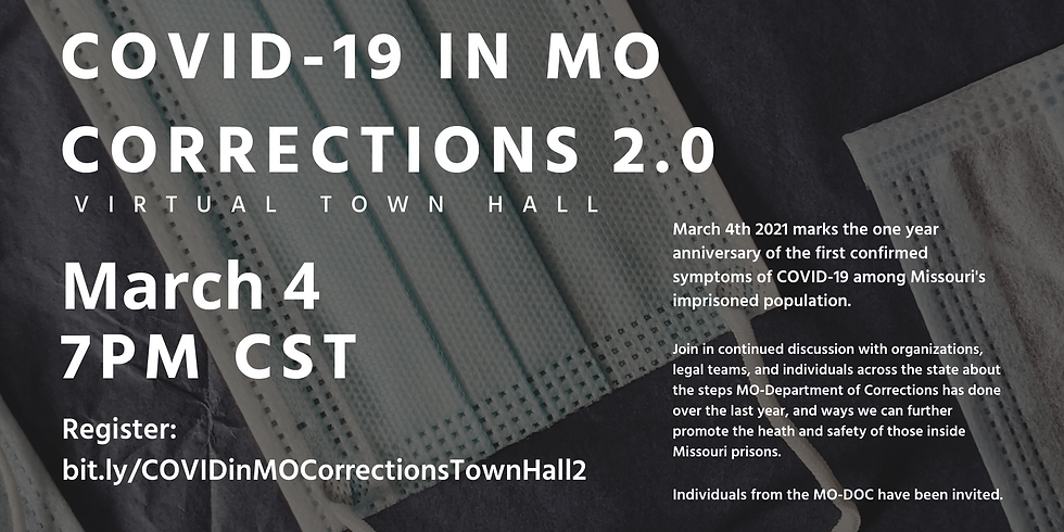 Virtual Town Hall - COVID19 in MO Corrections 2