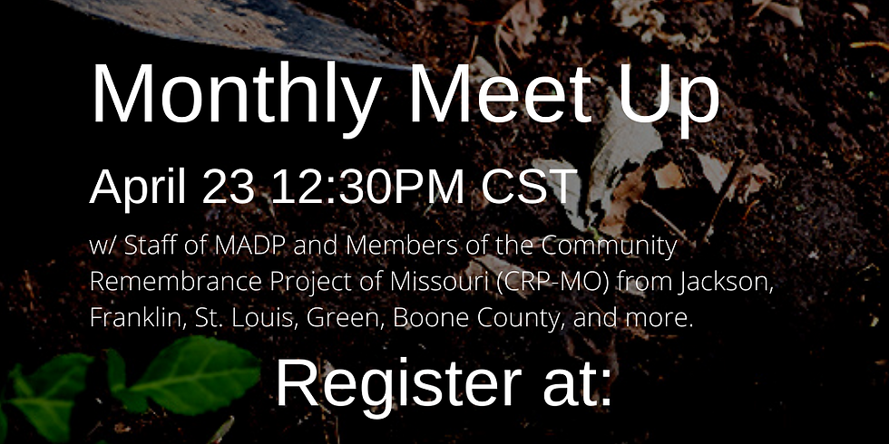 MADP Monthly Meet-Up w/ CRP-MO