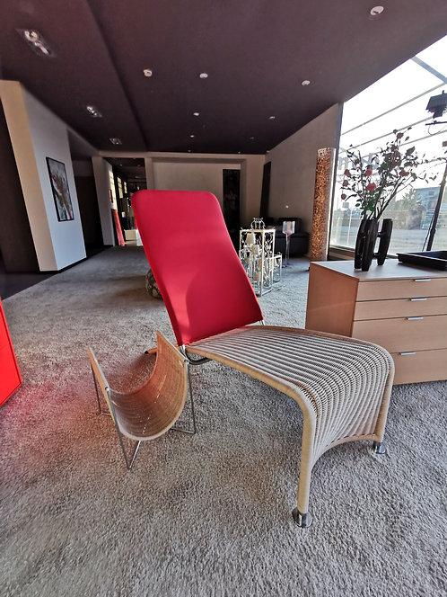 TI20 chaise longue Varaschin in midollino intrecciato schiena regolabile