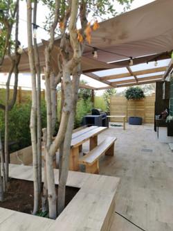 Progetto di terrazzo giardino